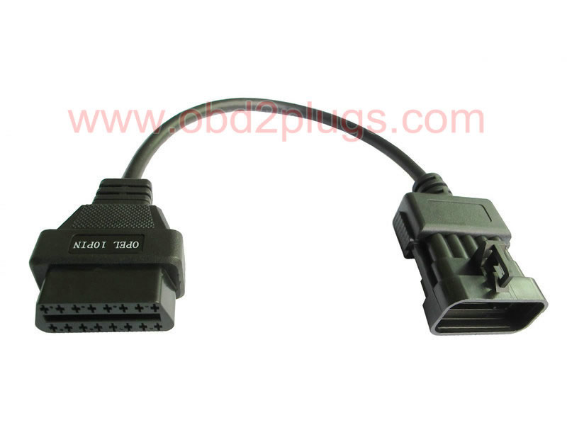 OBD2 Female to OPEL-10Pin Male Cable