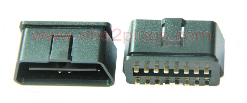 Obd2 J1962 Male Connector Obd2 Cable Eld Cable J1939