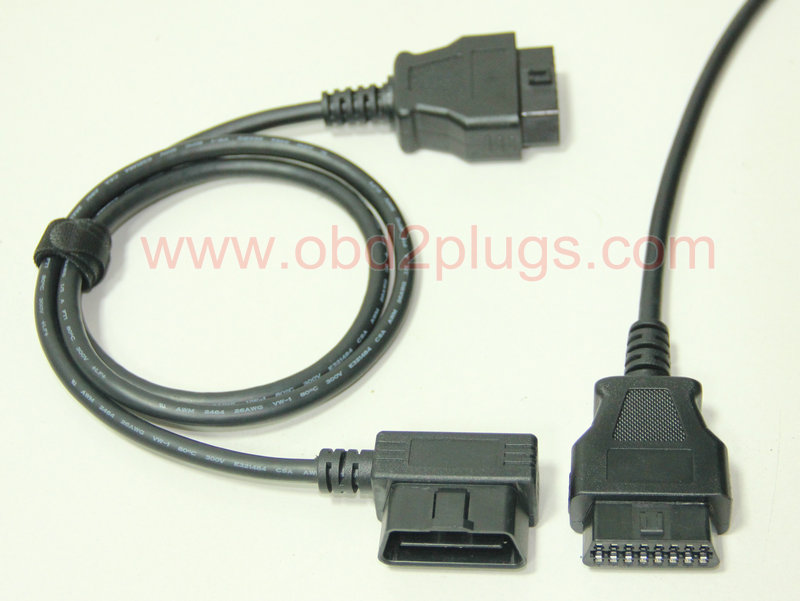 Low Profile Obd2 Male Right Angle To Female Extension