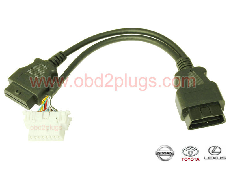 OBD2 Splitter Y cable for TOYOTA&NISSAN&Subaru