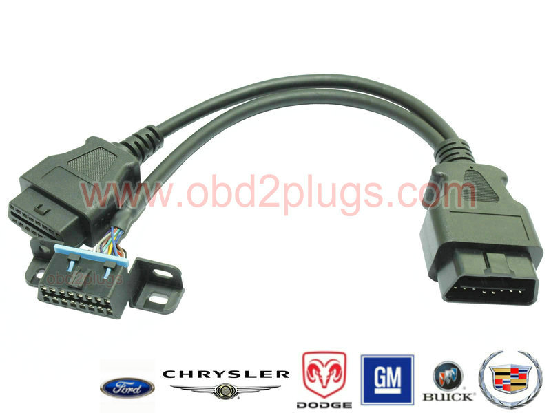 OBD2 Splitter Y cable for GM&Buick&Cadillac&Ford