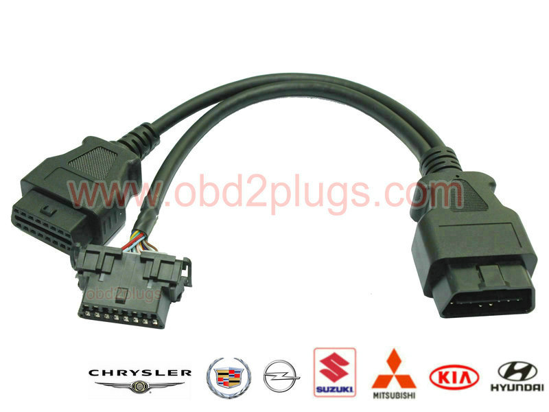 OBD2 Splitter Y cable for KIA&HY&OPEL&Suzuki&Cadillac