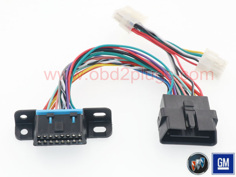 OBD2 Pass through Cables fit GM&Buick&Cadillac&Chrysler&VAZ