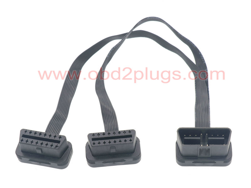 Ultra Low Profile OBD2 splitter flat Cable-9C