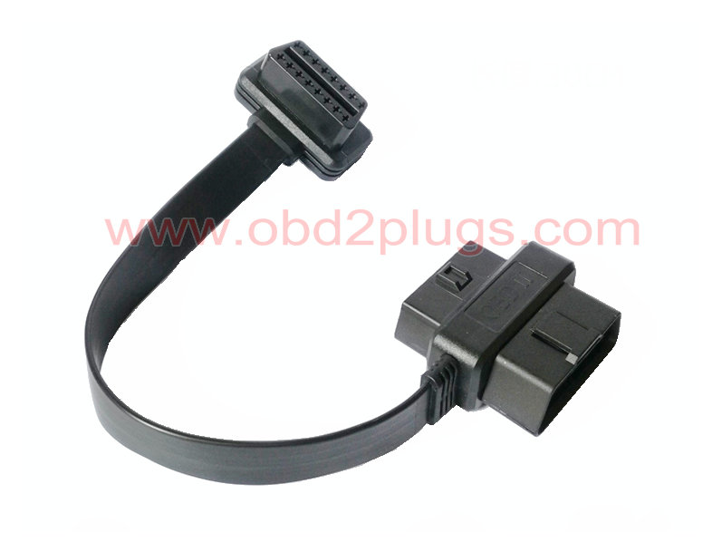 ultrathin OBD2 Pass through flat Cables