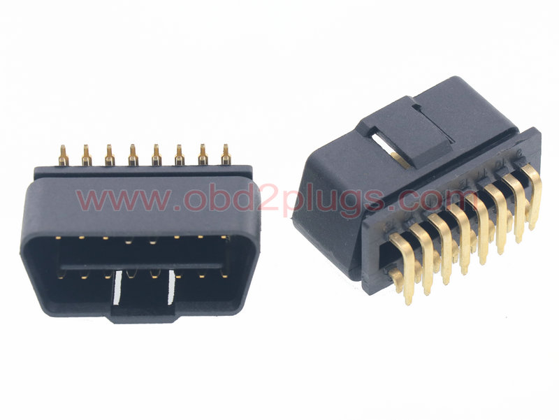 OBD2 J1962 Male Connector with Right-Angle Pin