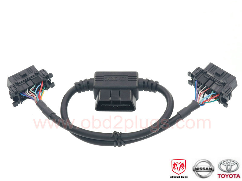 OBD2 Passthrough cable for TOYOTA,Nissan,Dodge - OBD2 cable
